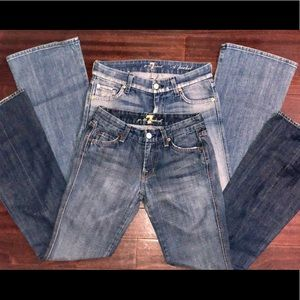 7 For All Mankind Womens Jeans Bundle SZ 24&25